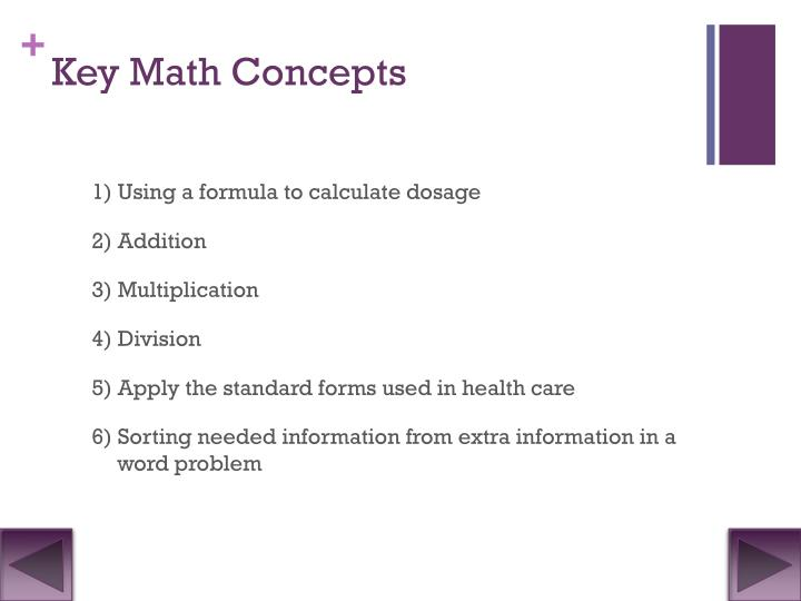 Key Math Concepts