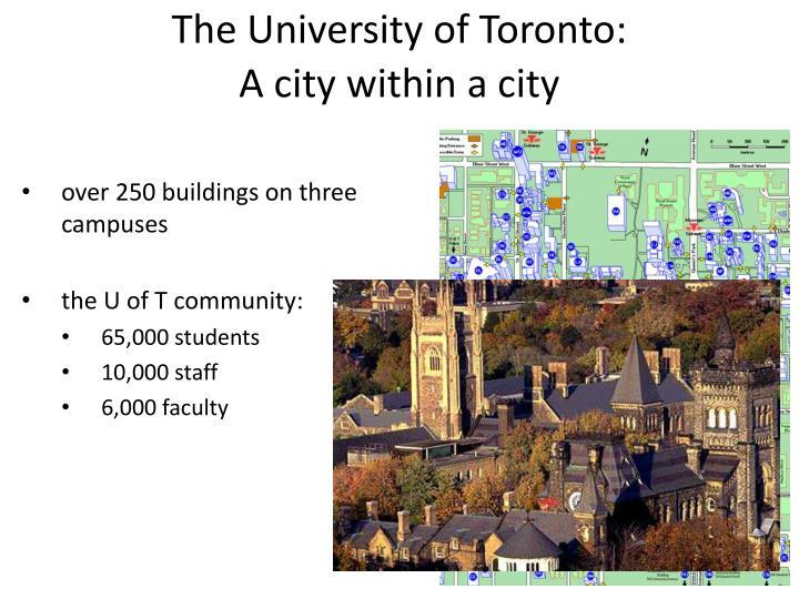 The University of Toronto: