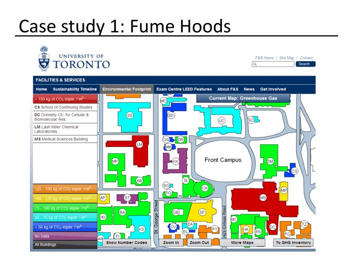 Case study 1: Fume Hoods