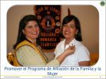 promover el programa de afiliaci n de la familia y la mujer