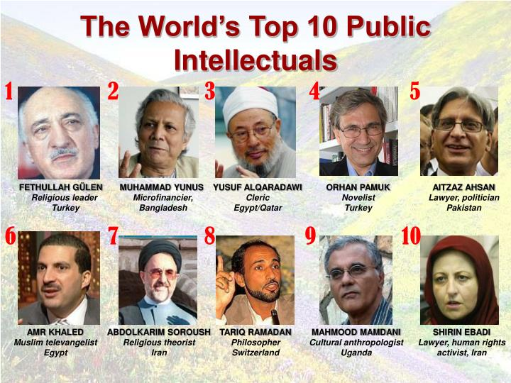 The World's Top 10 Public Intellectuals