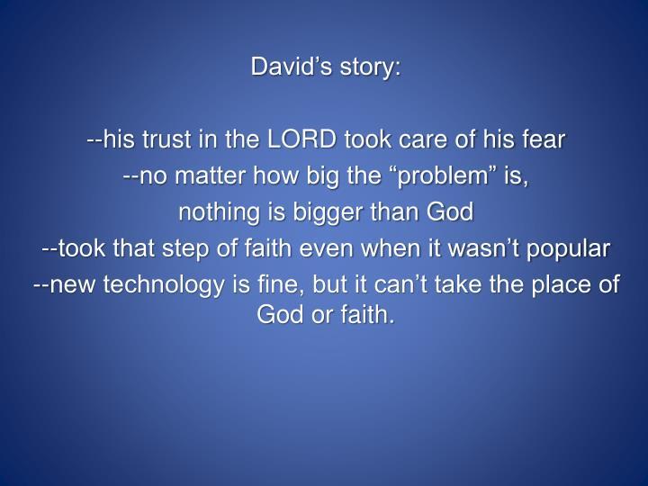 David's story: