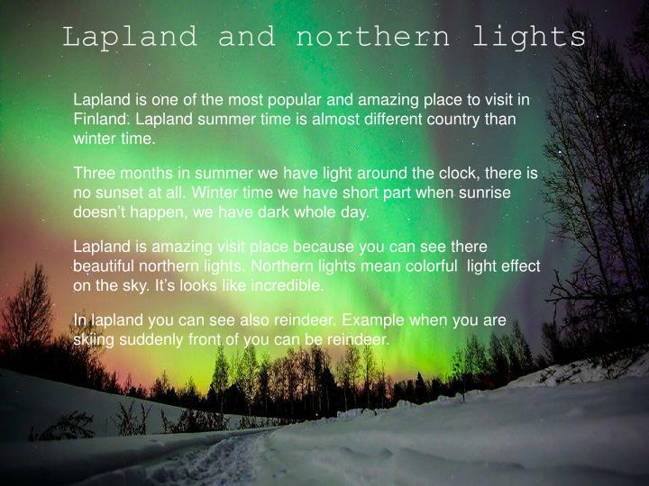 Lapland and northern lights