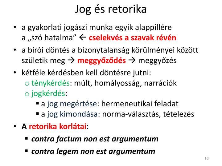Jog és retorika