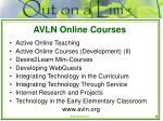 avln online courses