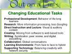 changing educational tasks