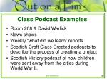 class podcast examples