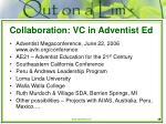 collaboration vc in adventist ed