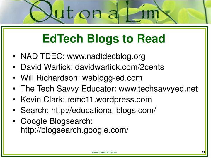 EdTech Blogs to Read