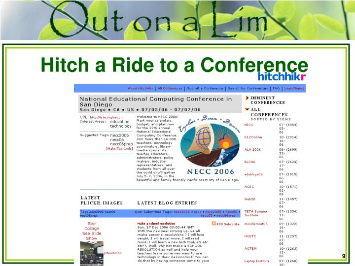 Hitch a Ride to a Conference