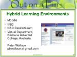 hybrid learning environments