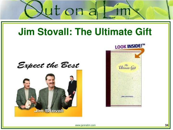 Jim Stovall: The Ultimate Gift