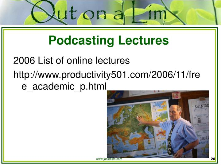 Podcasting Lectures