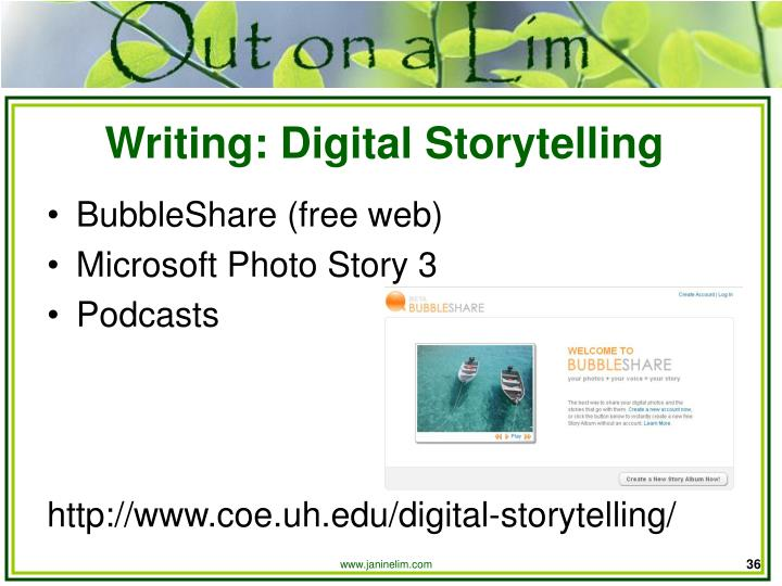 Writing: Digital Storytelling