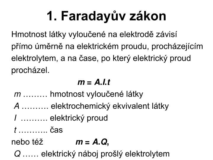 1. Faradayův zákon
