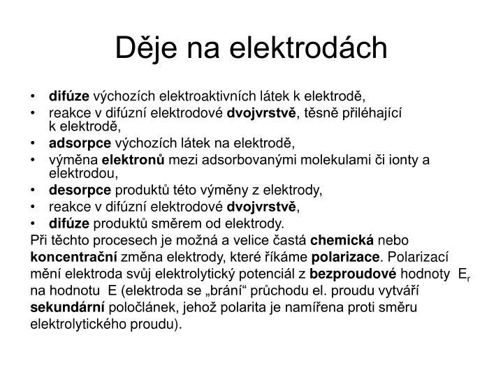Děje na elektrodách