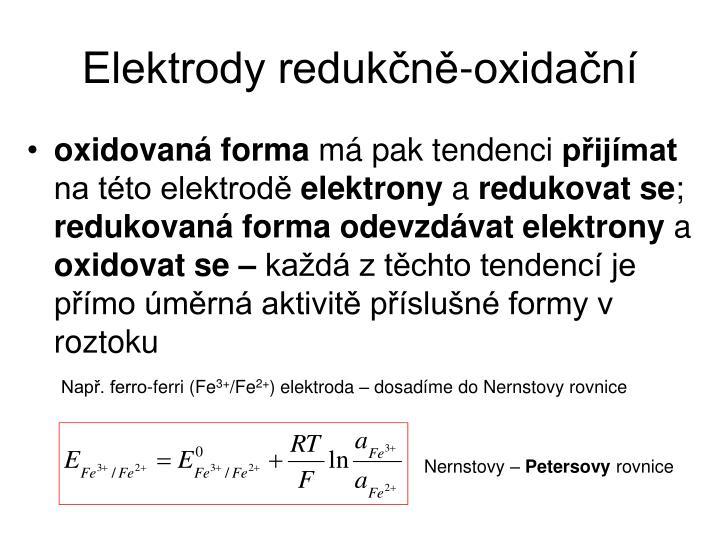 Elektrody redukčně-oxidační