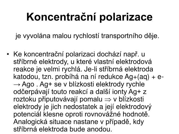 Koncentrační polarizace