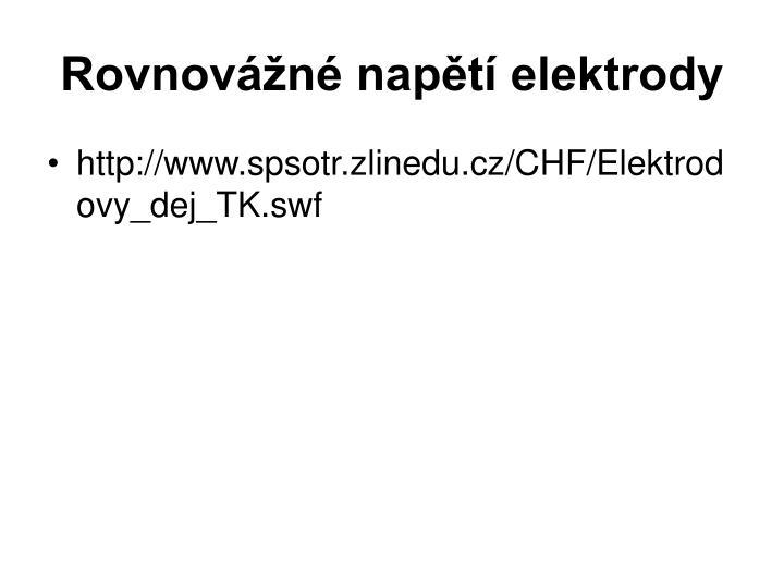 Rovnovážné napětí elektrody