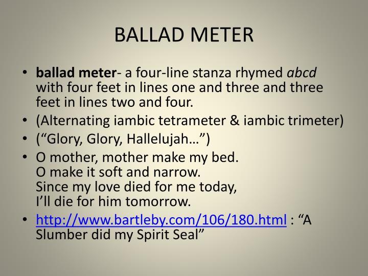 BALLAD METER