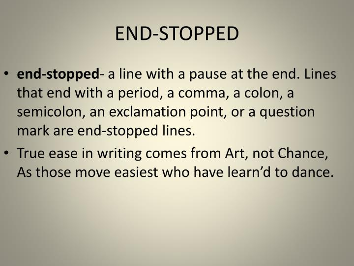 END-STOPPED