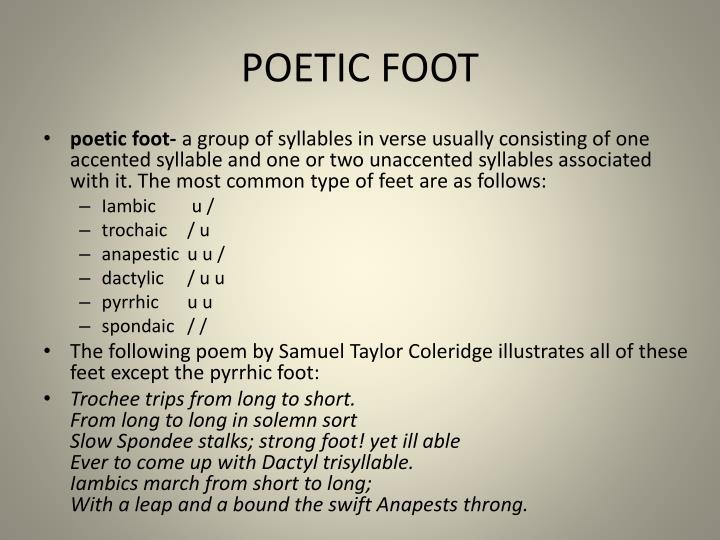 POETIC FOOT