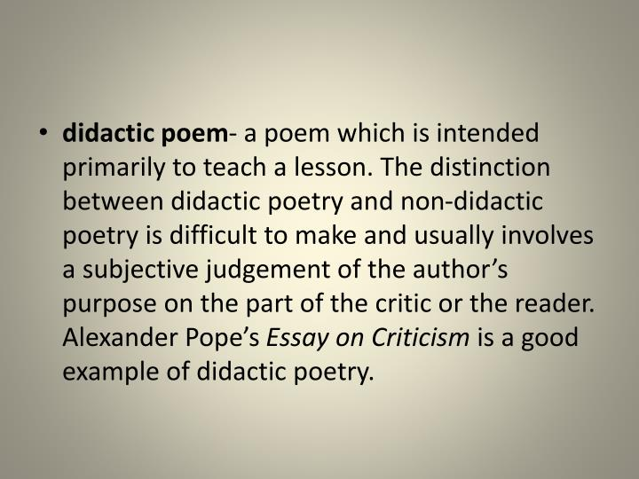 didactic poem