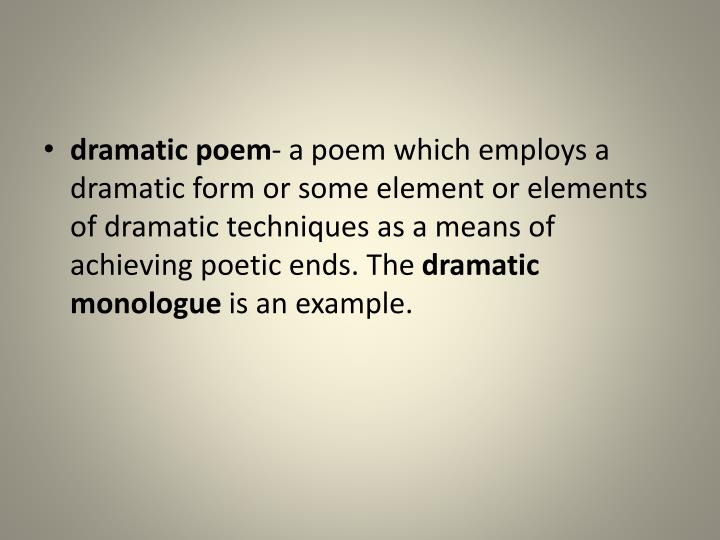 dramatic poem