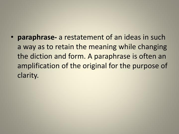 paraphrase-