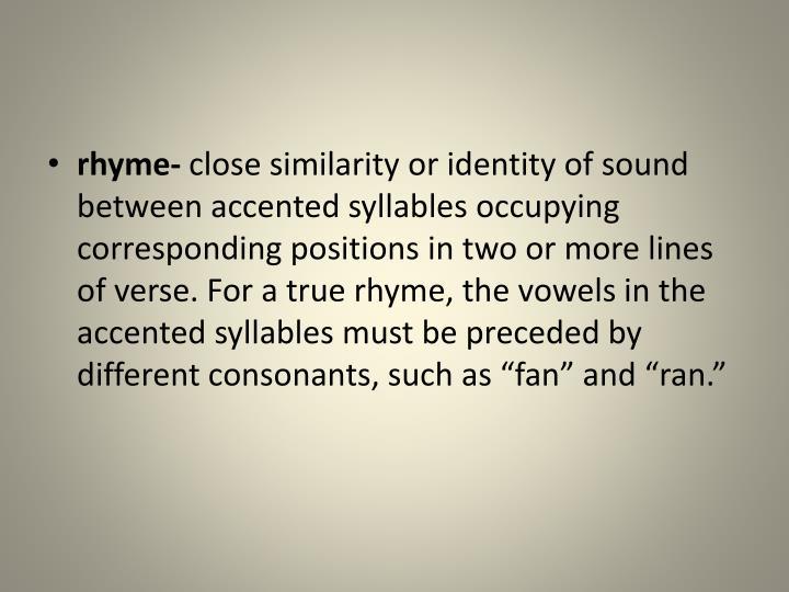 rhyme-