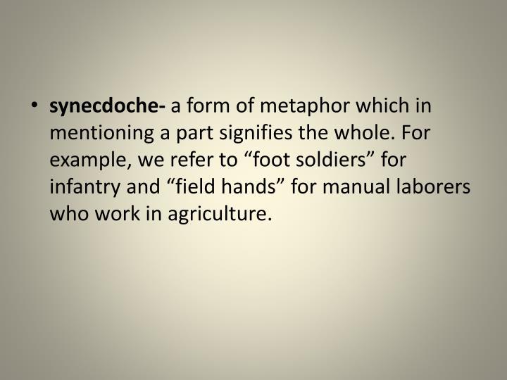 synecdoche-