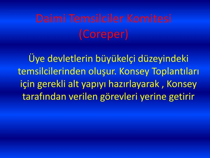 Daimi Temsilciler Komitesi (Coreper)