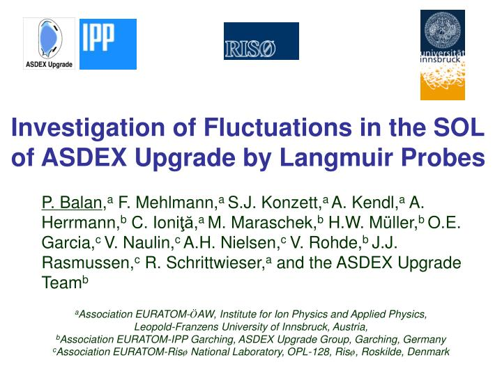 Investigation of Fluctuations in the SOL