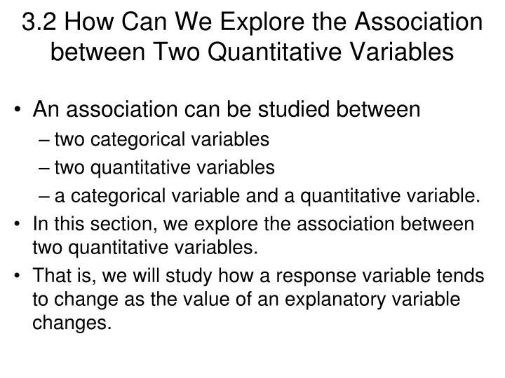 3.2 How Can We Explore the Association between Two Quantitative Variables