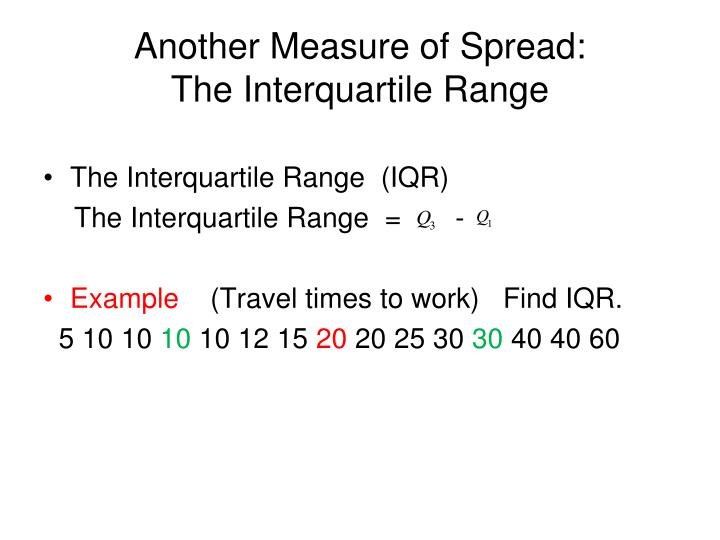 Another Measure of Spread: