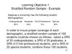 learning objective 1 stratified random sample example