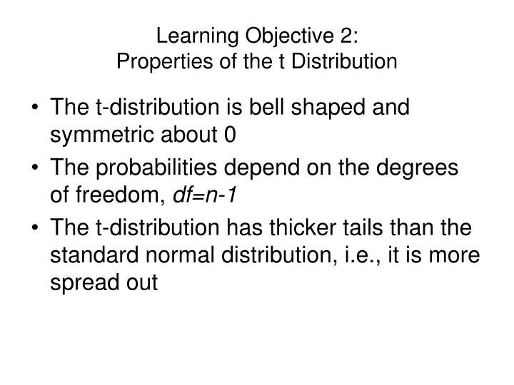 Learning Objective 2: