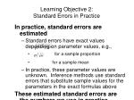 learning objective 2 standard errors in practice