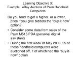 learning objective 3 example ebay auctions of palm handheld computers
