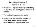 learning objective 3 power of a test