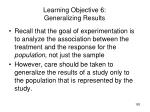 learning objective 6 generalizing results