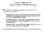 learning objective 6 types of bias in sample surveys