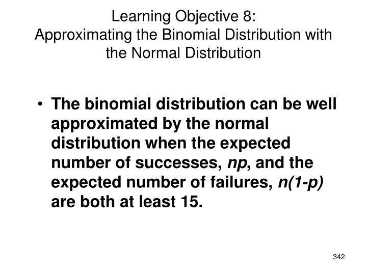 Learning Objective 8