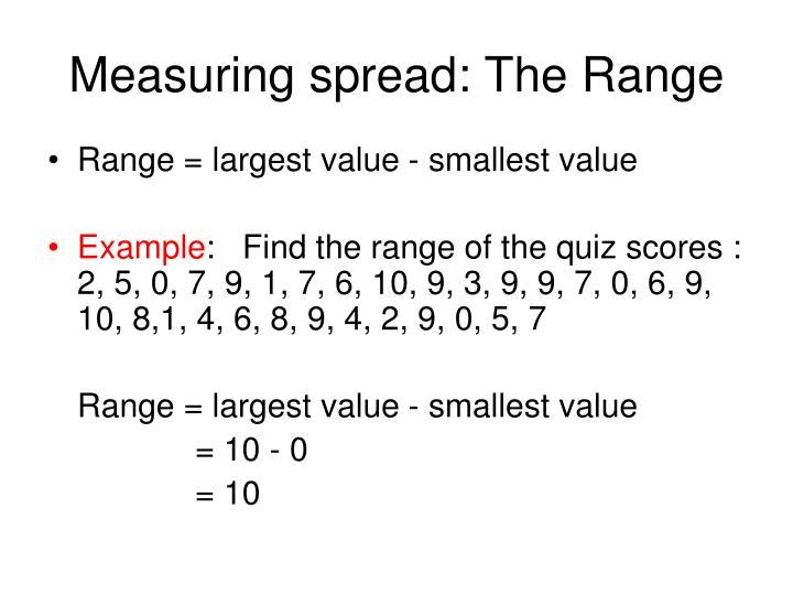 Measuring spread: The Range