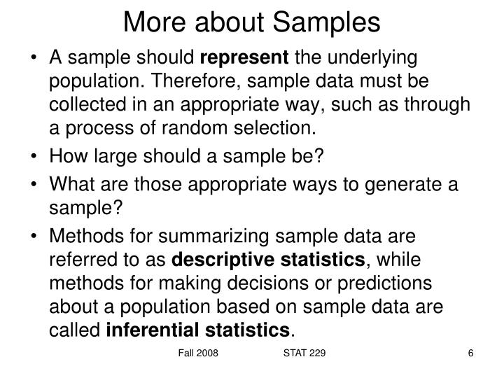More about Samples