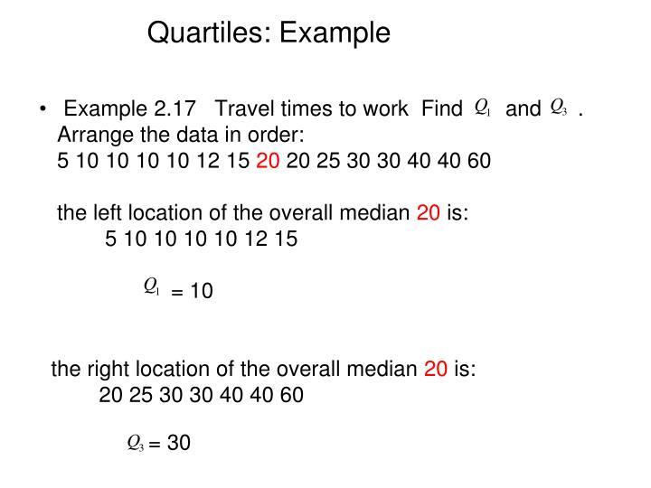 Quartiles: Example