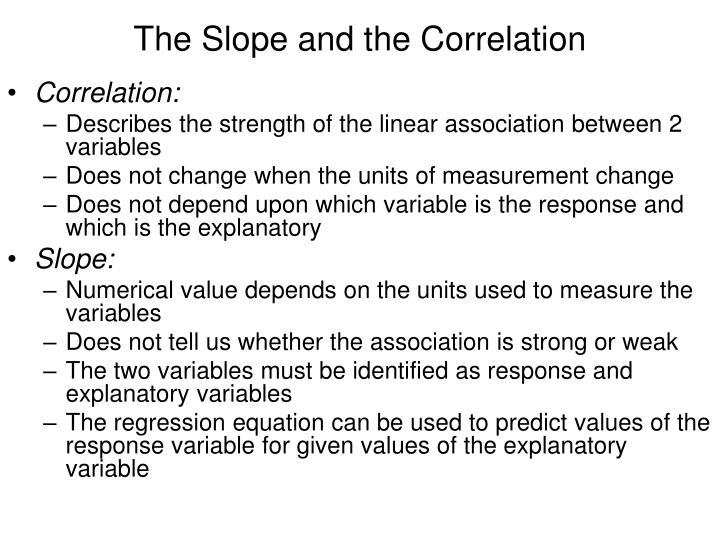 The Slope and the Correlation