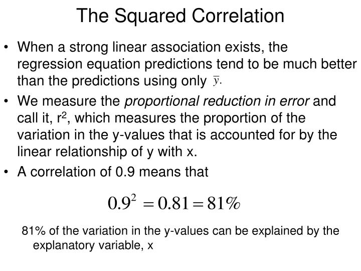 The Squared Correlation
