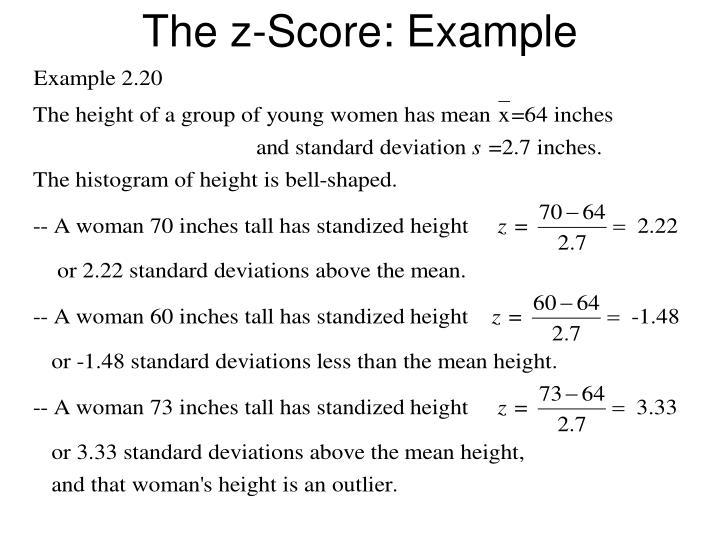 The z-Score: Example