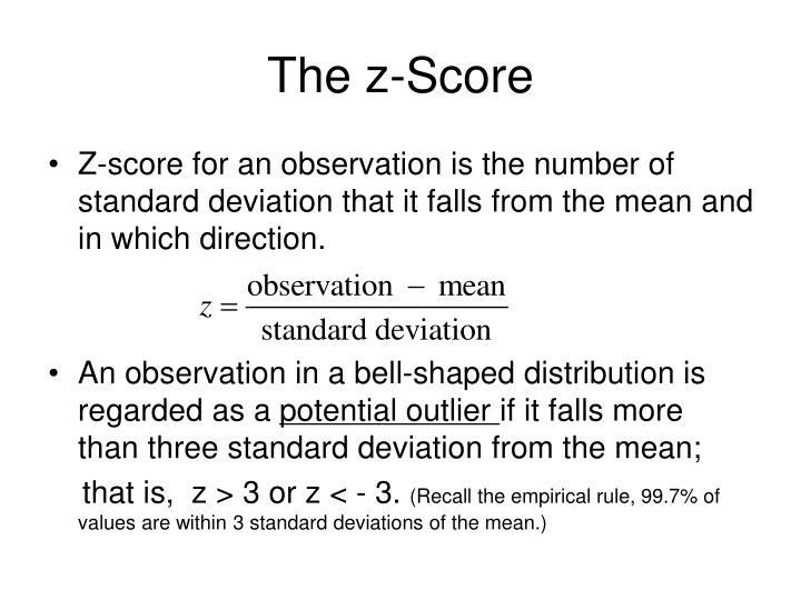 The z-Score